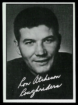 Ron Atchison 1961 Topps CFL football card