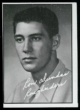 Ron Dundas 1961 Topps CFL football card