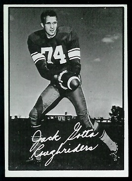 Jack Gotta 1961 Topps CFL football card