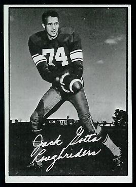 Jack Gotta 1961 Topps CFL football card