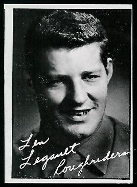 Len Legault 1961 Topps CFL football card