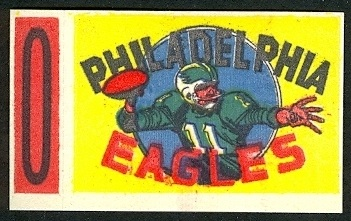 Philadelphia Eagles 1961 Topps Flocked Stickers football card