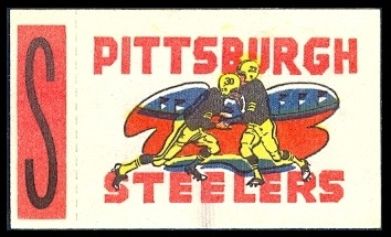 Pittsburgh Steelers 1961 Topps Flocked Stickers football card
