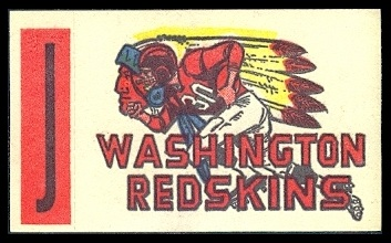 Washington Redskins 1961 Topps Flocked Stickers football card