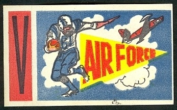 Air Force 1961 Topps Flocked Stickers football card