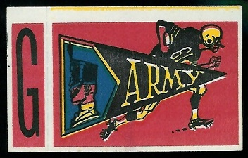 Army 1961 Topps Flocked Stickers football card