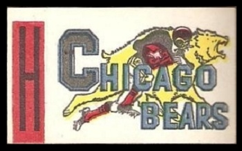 Chicago Bears 1961 Topps Flocked Stickers football card