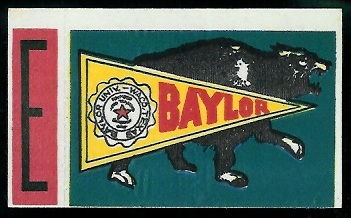 Baylor 1961 Topps Flocked Stickers football card