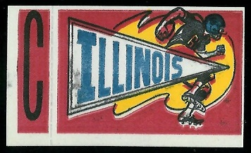Illinois 1961 Topps Flocked Stickers football card