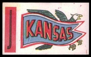 Kansas 1961 Topps Flocked Stickers football card