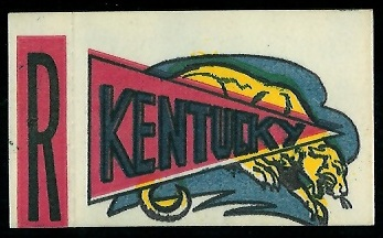 Kentucky 1961 Topps Flocked Stickers football card