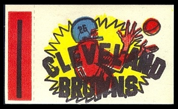 Cleveland Browns 1961 Topps Flocked Stickers football card
