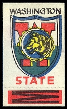 Washington State 1961 Topps Flocked Stickers football card
