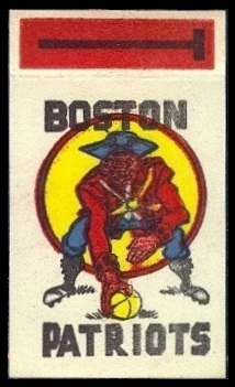 Boston Patriots 1961 Topps Flocked Stickers football card