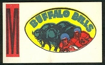 Buffalo Bills 1961 Topps Flocked Stickers football card