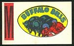1961 Topps Flocked Stickers Buffalo Bills