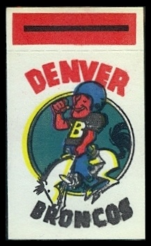 Denver Broncos 1961 Topps Flocked Stickers football card