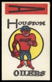 Houston Oilers 1961 Topps Flocked Stickers football card
