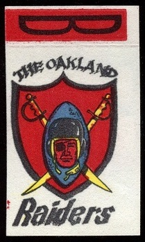Oakland Raiders 1961 Topps Flocked Stickers football card