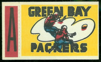 Green Bay Packers 1961 Topps Flocked Stickers football card
