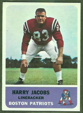 Harry Jacobs 1962 Fleer football card
