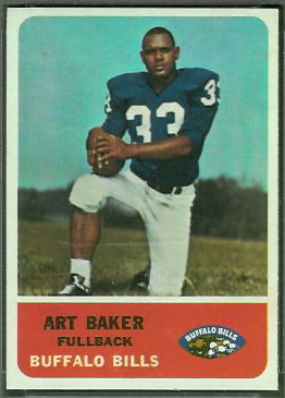 Art Baker 1962 Fleer football card