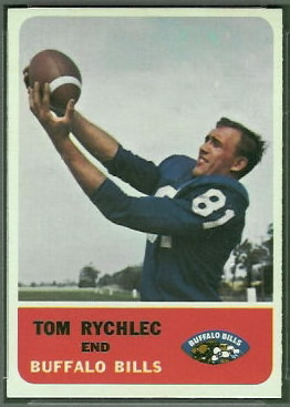 Tom Rychlec 1962 Fleer football card