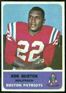 Ron Burton 1962 Fleer football card
