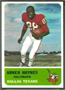 Abner Haynes 1962 Fleer football card