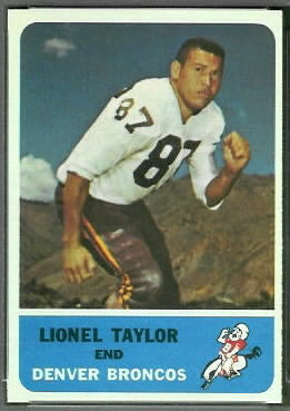 Lionel Taylor 1962 Fleer football card
