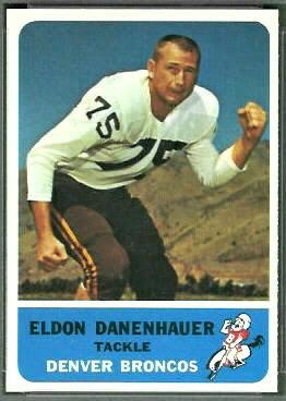 Eldon Danenhauer 1962 Fleer football card