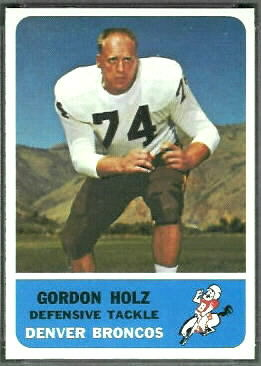 Gordy Holz 1962 Fleer football card
