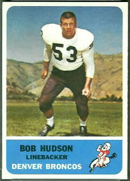Bob Hudson 1962 Fleer football card