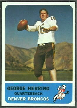 George Herring 1962 Fleer football card