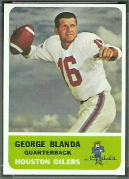 George Blanda 1962 Fleer football card