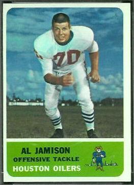 Al Jamison 1962 Fleer football card
