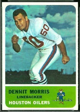 Dennit Morris 1962 Fleer football card