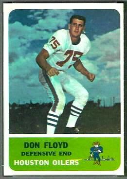 Don Floyd 1962 Fleer football card