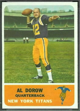 Al Dorow 1962 Fleer football card
