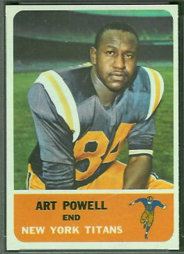 Art Powell 1962 Fleer football card