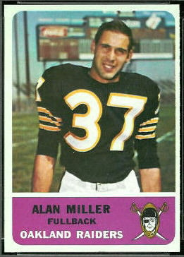 Alan Miller 1962 Fleer football card