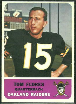 Tom Flores 1962 Fleer football card