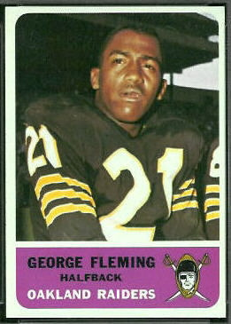 George Fleming 1962 Fleer football card