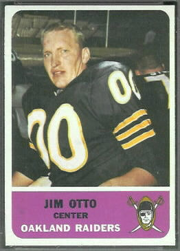 Jim Otto 1962 Fleer football card