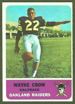 Wayne Crow 1962 Fleer football card