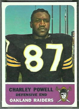 Charlie Powell 1962 Fleer football card