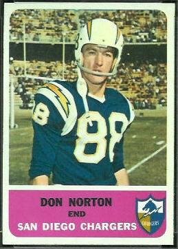 Don Norton 1962 Fleer football card