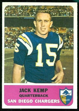 Jack Kemp 1962 Fleer football card