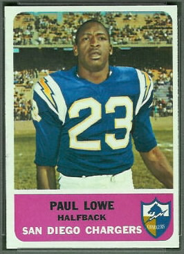 Paul Lowe 1962 Fleer football card