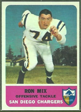 Ron Mix 1962 Fleer football card